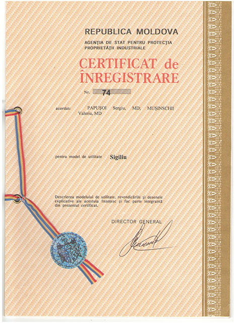 Certificat de Inregistrare Moldova