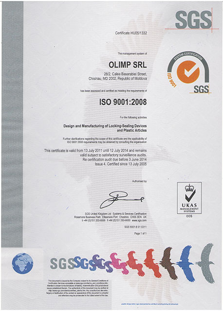 ISO 9001:2008 (SGS)
